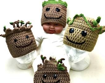 Crochet Baby Groot Hat *PATTERN ONLY*