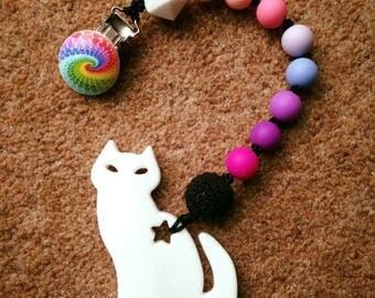 Silicone Baby Teething Toys Rainbow Cat
