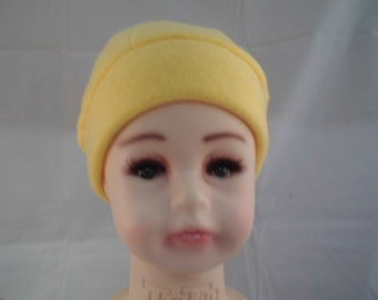 Pretty bright yellow toddler cap wide band.