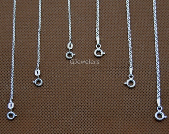 """925 Sterling Silver Rolo Chain Necklace 1.5mm 2.1mm 16"""", 18"""", 20"""", 24"""" 30"""" NEW! Silver Chain Necklace Free and Fast Shipping."""
