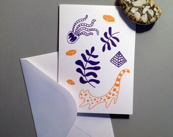 Greeting card Mameria jungle