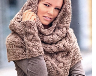 Cowl knit scarf color cowl scarf neck warmer knitted circle scarf knit snood cowl hood cowl scarf Christmas gift winter cowl scarf warm cowl