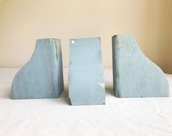 Antique Corbels, Architectural Salvage, Vintage Wood Corbels, Farmhouse Corbels, Shabby Chic Bookends, Rustic Decor, Shabby Chic Decor