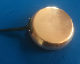 French Vintage Professional Copper Frying Pan