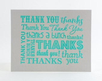 Thank You Cards, Ink-Embossed - 5 Pack