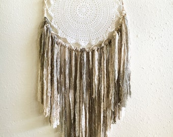 Sand and Sable Crocheted Dreamcatcher/ boho/ bohemian/ eclectic/ boho decor