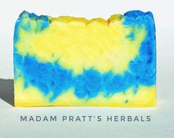 Electric Lemon/ vegan soap/ luxurious bar soap/ artisan soap
