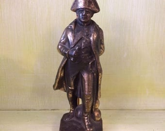 Vintage Brass Figurine of Napoleon Bonaparte - Made in France