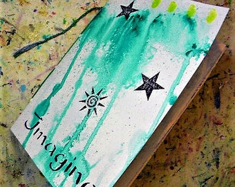 Art journal, handmade journal, watercolor paper, ready to use, art journaling, travel journal