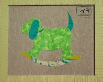 Puppy, DOG picture, picture closet bedroom baby, fabric, fabric