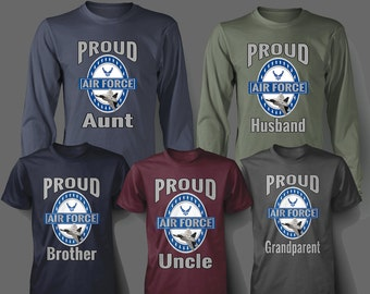 Child's Proud Air Force Family Member T shirt