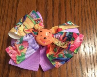 Winnie The Pooh Hair Bow, Girls Hair Bows, Hair Bows