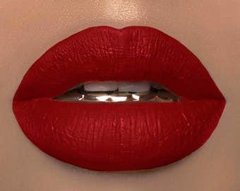 Queen Of Hearts Bright Red Liquid Lipstick