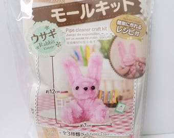 Daiso Rabbit Pipe Cleaner Craft Kit