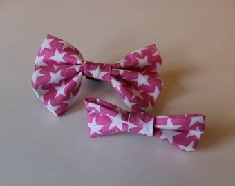 Alex Dog Bow Tie - Pink