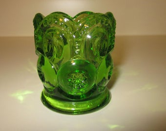 Vintage Pressed Glass Toothpick Holder   Pristine!!!!   1960's FUN!!!