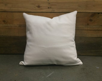 Solid White Cotton Pillow Cover Invisible Zipper