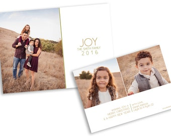 Holiday Card Template Christmas Card Modern Holiday Card Photoshop Template