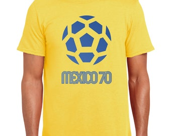 Mexico 70   FIFA World Cup Inspired   Football   Soccer   Retro   Colors   Juanito   Brazil   Pele   Greatest Ever   T Shirt