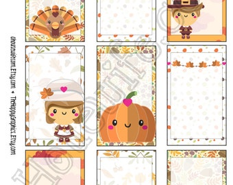 Thanksgiving, Happy Planner stickers [198] , Full box, A5 PDF, Instant download