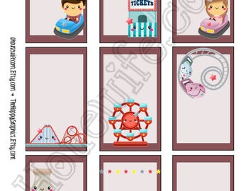 Funfair, Happy Planner stickers [261] , Full box, A5 PDF, Instant download
