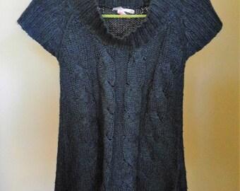 Sweater Vest - Blue Green Knit Sweater Vest - Size S
