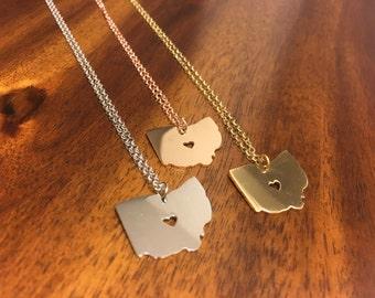 Ohio Necklace - Ohio Pendant - Ohio Charm - Ohio Outline - Ohio Jewelry - Ohio State Necklace - Ohio Jewelry - Ohio