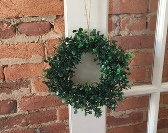 "8"" Faux Boxwood Wreath"