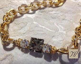 Crystal Swarovski, woman necklace, sophisticated necklace, chain necklace, necklace, rhinestone Crystal Choker necklace.