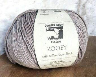 Zooey in Stardust - Cotton Linen DK yarn - Juniper Moon Farms
