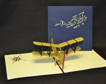 3-D Airplane Pop-Up Card