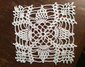 Doily, handmade, square, small