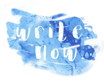 Write. Now. Bubble Blue [Digital Download; 8x10, High-Res]