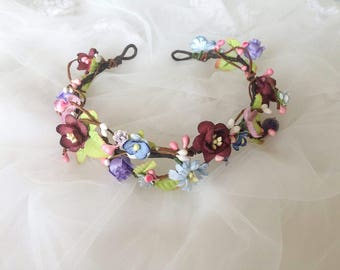 Flower Girl Crown Headband / Head Wreath Flower Girl Headpiece Flower Girl Flower Crown Tiara