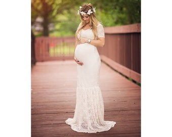 gown mermaid gown maxi gown sweetheart maternity dress baby shower