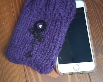 Purple wool iphone case