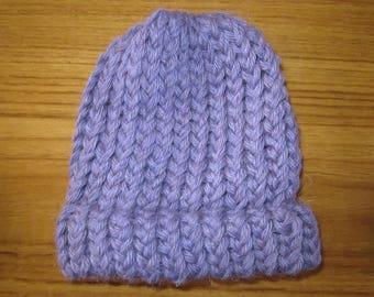 100% New Zealand Wool Newborn Beanie - Lilac