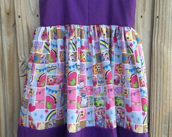 Shopkinz girls dress made to order sizes 1 to 8