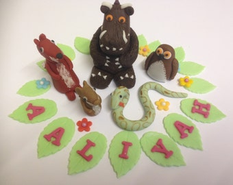 Handmade Edible Gruffalo Cake Topper Set