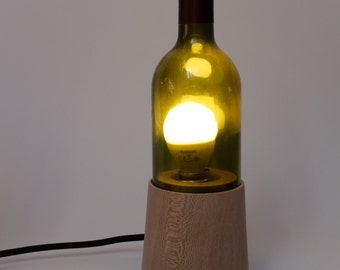 Tablelight made from Plane and Winebottle