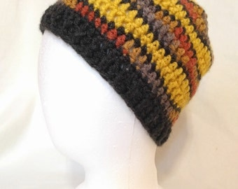 Black and Yellow Smooth Wave Beanie