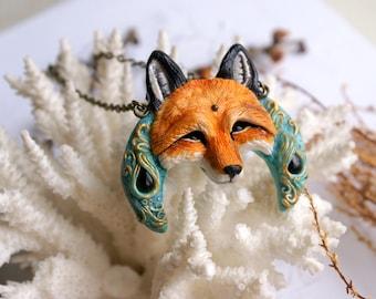 Red fox, fox totem, red fox jewelry, fox necklace