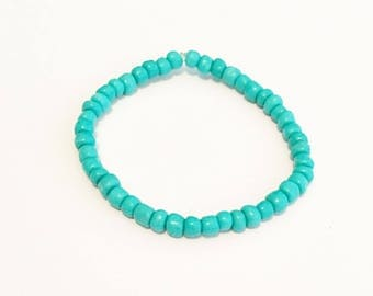 Turquoise Seed Bracelet