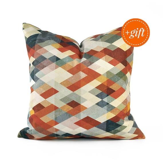Orange Throw Pillows For Sofa : Burnt Orange Throw Pillow for Couch. Colorful Throw Pillow