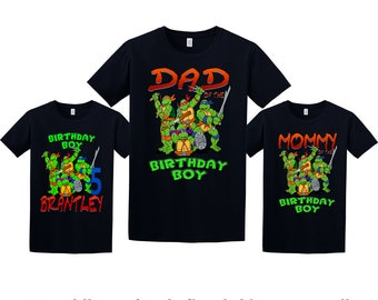 Teenage Mutant Ninja Turtles Birthday Shirt, TMNT Custom Shirt, Personalized NINJA TURTLES Shirt, tmnt family shirts, Birthday t-shirt