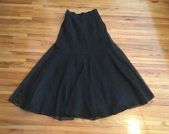 Vintage 1970's high waist maxi skirt