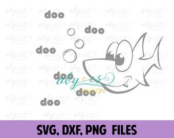 Baby Shark Doo Doo SVG File, SIlhouette Studio, Baby Shark Song, Cut Files, PNG, Cricut, DXF, t shirt design