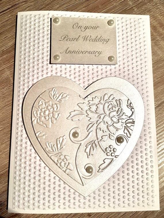 Pearl Wedding Anniversary Card 30th