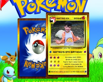 pokemon invitation, pokemon birthday invitation, pokemon birthday, pokemon card, pokemon party, pokemon invite, pokemon go, pokemon