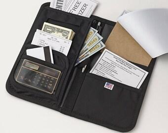 Waitress book with Secure Money Pocket | Made in USA | #1 BEST SELLER | iServ Premium Waitstaff Organizer Server Wallet | Waitress Wallet